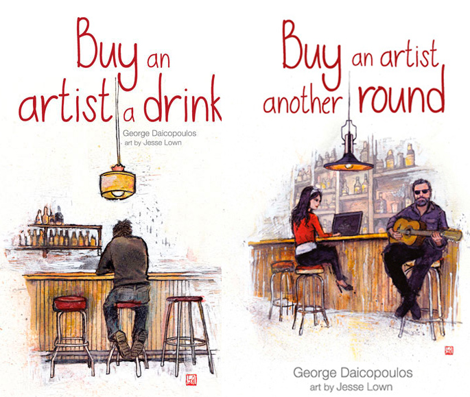 Book covers - Buy an Artist a Drink and Buy an Artist Another Round